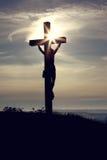 Återgivning av Jesus på korset royaltyfria foton