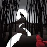 Återgivning för saga för liten röd ridninghuv royaltyfri illustrationer