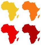 Återhållsamma Afrika översikt royaltyfri illustrationer