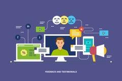 Återkoppling, granskningar och värdering, intyg, som, kommunikation och teknologigranskningar royaltyfri illustrationer