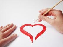 återställa för hjärta Arkivbilder