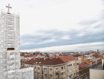 Återställande av det kyrkliga tornet Fotografering för Bildbyråer