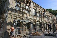 Återställande av en historisk byggnad Arkivfoto