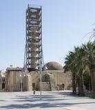 Återställande av en minaret av en moské. Rethymno. Ö av Kreta Royaltyfri Fotografi