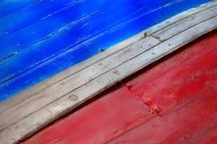 Återställande av ett åldrigt träfartyg Arkivfoton