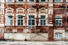 Återställande av gammal byggnad Fotografering för Bildbyråer