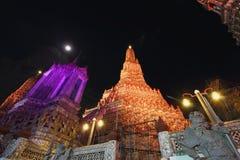 Återställandet reparerar en tempel Wat Arun Royaltyfria Foton