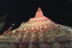 Återställandet reparerar en tempel Wat Arun Royaltyfria Bilder