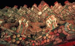 Återställandet reparerar en tempel Wat Arun Royaltyfri Fotografi