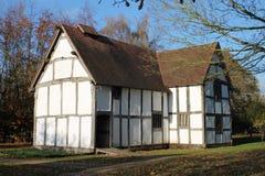 Återställd bakre sikt för medeltida korridor Royaltyfri Bild