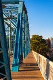 Återställd Chattanooga bro Fotografering för Bildbyråer