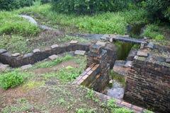 Återställda franska diken i Dien Bien Phu Royaltyfri Fotografi