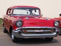 Återställda röda Chevrolet Fotografering för Bildbyråer