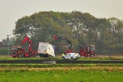 Återställning för tung lastbil, England fotografering för bildbyråer