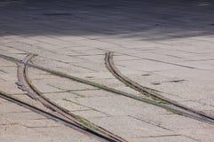 återvändsgrändspår Arkivfoto