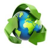Återvinning jorden Arkivfoton