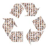 Återvinning och hållbarhet i företag arkivfoton
