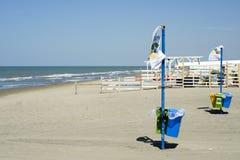 Återvinning på stranden Royaltyfria Foton