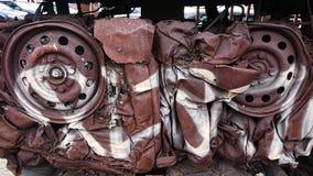 Återvinningbilar arkivfoton