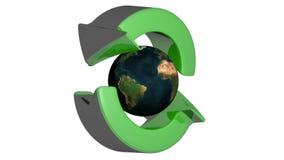 Återvinningpilar runt om världen lager videofilmer