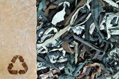 Återvinningråvaror ekologiskt begrepp royaltyfri bild
