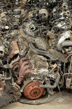 återvinningsbara bilmotorer Fotografering för Bildbyråer