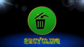 Återvinningsymbol, animering, bästa bakgrund arkivfilmer