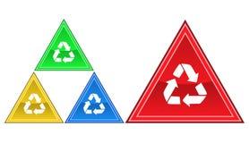 Återvinningsymbol, tecken, illustration Arkivbilder