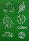Återvinningsymboler Arkivfoto