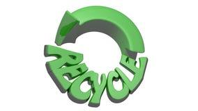 Återvinningsymbolsgräsplan stock video