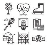 Åtföljande symbolsuppsättning för sport Fotografering för Bildbyråer