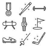 Åtföljande symbolsuppsättning för sport Royaltyfri Foto
