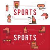 Åtföljande symbolsuppsättning för sport Arkivfoto