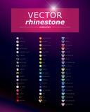 Åtlöje för vektorbergkristallädelsten upp vektor illustrationer