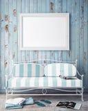 Åtlöje upp affischram i bakgrund för sommarbegreppsyttersida Arkivfoton