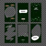 Åtlöje upp Julmall för nytt år för socialt nätverk, - berättelse Malldesign för berättelse Redigerbar berättelsemall vektor illustrationer