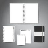 Åtlöje upp mall av anteckningsböcker royaltyfri illustrationer