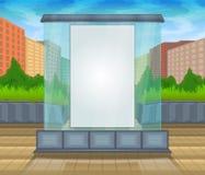 Åtlöje upp vektorexponeringsglasstad Arkivbilder