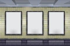 Åtlöje upp vektorgångtunnelväggen Royaltyfria Bilder