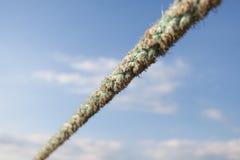 Åtsittande tungt rep arkivbild