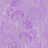 ?tskillig modell f?r s?ml?s vektor Fantasi sagolik blomma med krullning Ofta upprepat i en riktning royaltyfria bilder