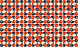 Åtskillig röd svart förälskelse marmorerar med den vita backgroen Royaltyfria Foton