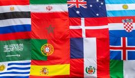 Åtskilliga flaggor av olika länder royaltyfri foto