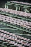 Åtskilliga järnvägspår Arkivfoto