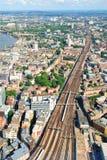 Åtskilliga stänger nära station för station för London brodrev Arkivfoton