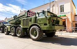 Åtskilligt raketgevärsystem BM-27 Uragan arkivfoton