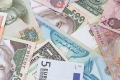 Åtskilligt valutautbyte arkivfoton