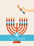 Åtta dagar av Chanukkah Fotografering för Bildbyråer