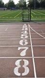 åtta lanes en running till arkivbild