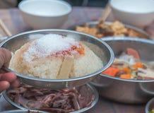 Åtta-skatt risgrynsgröt royaltyfria bilder